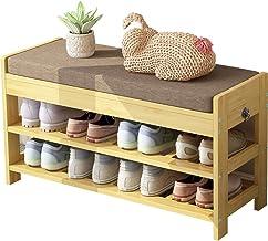 Strong Carrying Capacity Sturdy Bamboo Shoe Rack Bench Entryway Shoe Shelf Storage Bench Environmentally Storage Organizer...