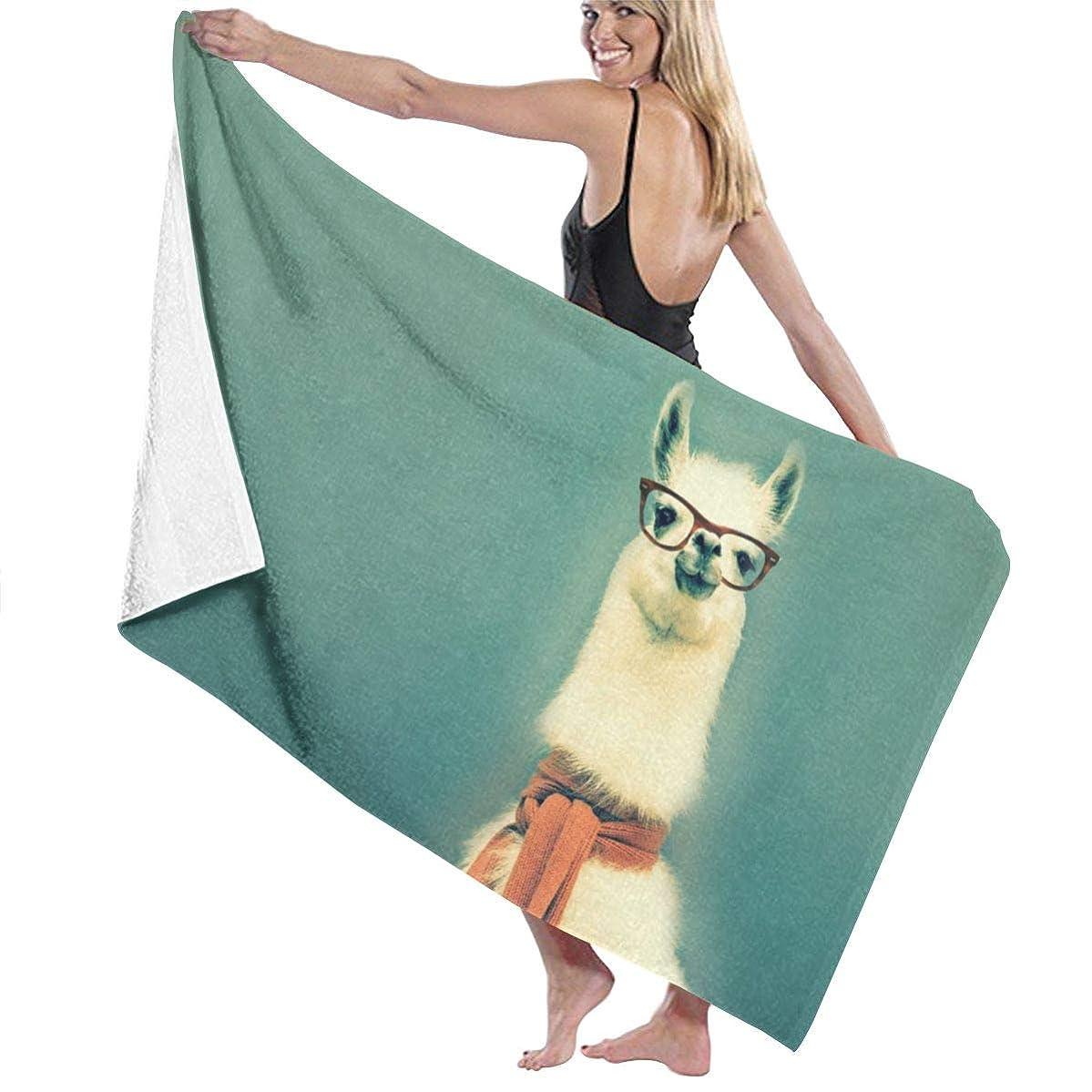 Beach Towels for Women Men Llama Alpaca Bath Towels Quick Dry Multipurpose Travel Pool Blanket Large 31x51 Inches