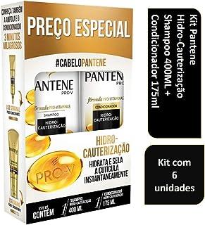 c0b07f40c Kit Pantene Hidro - Cauterização Shampoo 400mL + Condicionador 175mL com 6  unidades