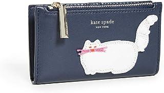 محفظة كيت سبيد للنساء مزينة بالخرز محفظة صغيرة رفيعة ثنائية الطبقات