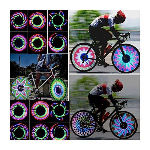 LKXHarleya Bicicleta Motocicleta Rueda Barra De Luz DecoloracióN Rodillo Impermeable LED VáLvula De NeumáTico Linterna IluminacióN De ConduccióN Nocturna Equipado con Sensor De Luz