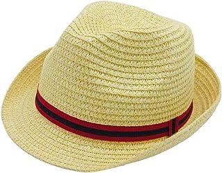 ACVIP Little Boy's Girl's Straw Woven Fedora Trilby Sun Hat