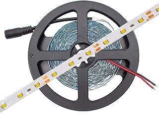 HitLights LED Strip Lights warm white 16.4'ft 300LED's 3000K 72Lumens per Foot (12V DC Tape
