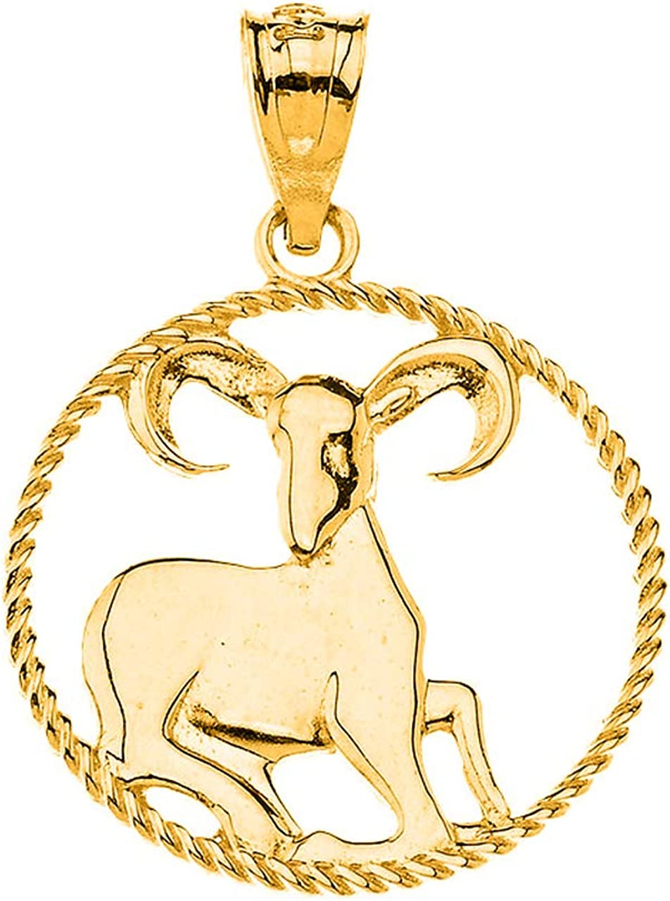 Certified 14k Yellow Cash special price Gold Max 54% OFF Round Constellat Sign Zodiac Horoscope