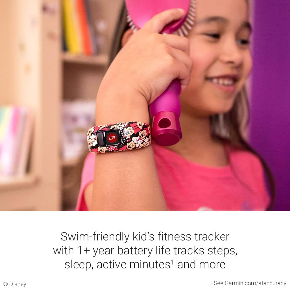 Fitness Tracker for Kids Swim-Friendly 3 Disney Princess Up to 1-Year Battery Life Garmin vivofit jr