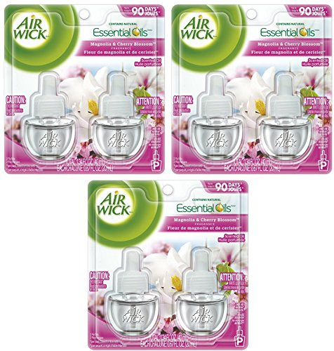 Air Wick Scented Oil White Lilac, Magnolia & Cherry Blossom Twin Refill (2X.67) oz (Pack of 3)