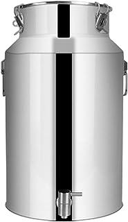 201 Bidon de Lait en Acier Inoxydable, avec Robinet Baril de Fermentation de Réservoir de Lait Transportable avec Couvercl...