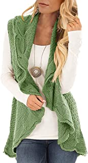0e632dc89d9 Womens Sweater Vest Plus Size Cable Knit Open Front Cardigans Fall Jackets  Winter Coats Outwear