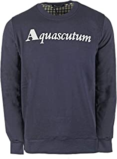 Aquascutum Box Logo Navy Sweatshirt