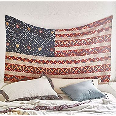 Americana Tapestry Beach Blanket Wall Art Bedspread Dorm Tapestry,60 x 80 ,Twin Size
