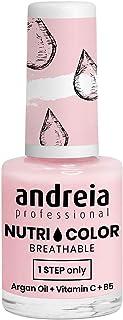 Andreia Professional NutriColor - Esmalte de uñas vegano transpirable - Color NC21 Rosa lechoso - 10.5ml