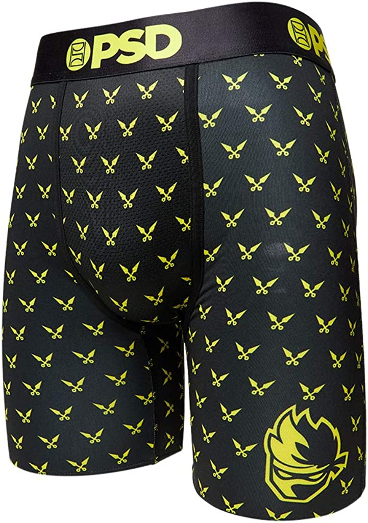 PSD Underwear Men's Stretch Wide Band Boxer Brief Underwear Bottom - Ninja Gamer