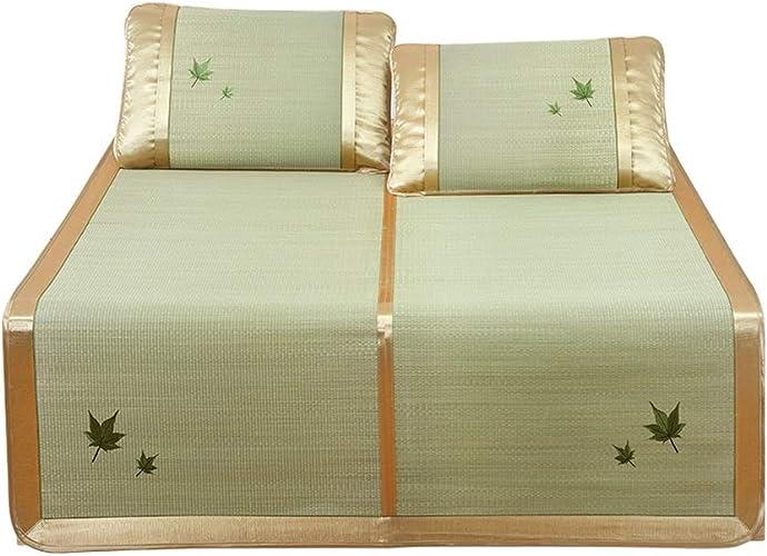 Teng Peng- Tapis de Couchage d'été, Tapis de Paille en Soie et Soie Tapis de Couchage d'été climatisé et Pliable, dortoir pour étudiants Tapis de Couchage Simple et Double Tapis Frais en Bambou