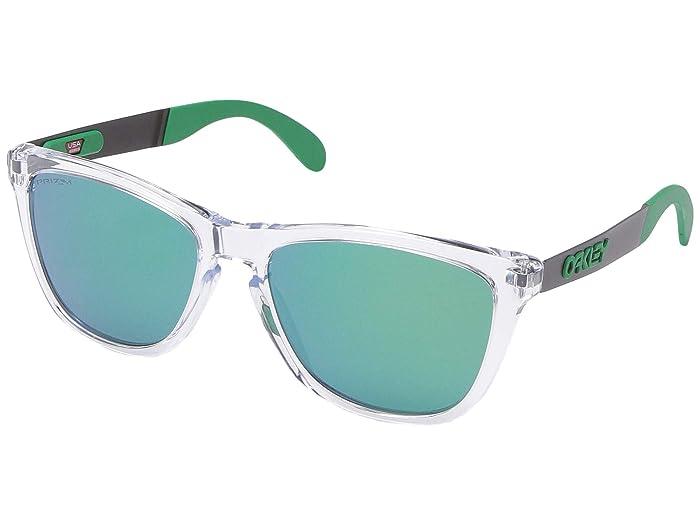 Oakley Frogskin Mix (Polished Clear w/ PRIZM Jade) Fashion Sunglasses