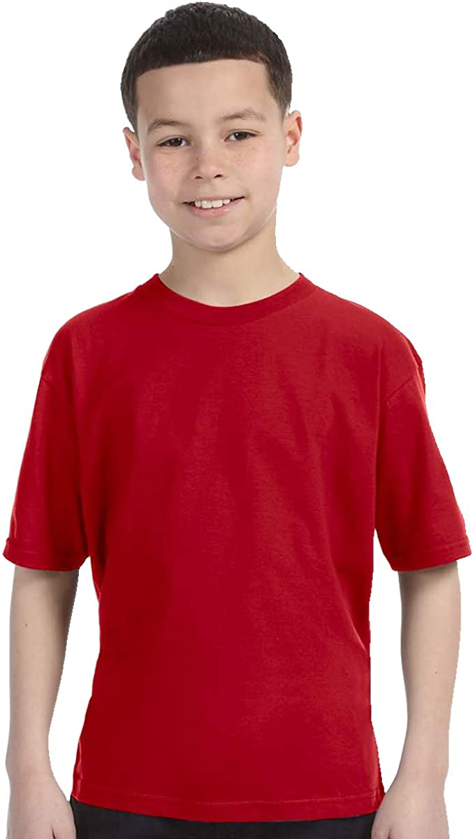 Anvil Youth Fashion-Fit Tee - Red - XS