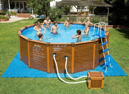 Intex 28392, 54930 Sequoia Wood Frame Pool Set 569 x 135