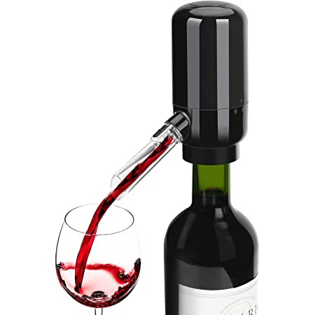 Automatic Wine Dispenser,(Black) Smart Wine Aerator,Luxury Wine  Pourer,Portable and Automatic Wine Bottle Tap Machine,Perfect Gift for  Wedding,Party, Anniversary and Any Occasion : Amazon.co.uk: Home & Kitchen