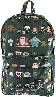 Loungefly x Nightmare Before Christmas Chibi Character Nylon Backpack (One Size, Multi)