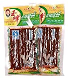 Domilove Chinese Special Spicy Snack Food: Gluten Wei Long La Tiao Xiang La Ti Jin Pack of 10 (玉峰香辣蹄筋 30g X 10 Pack)