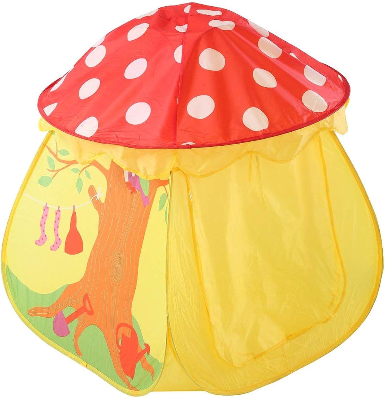 Sakuldes Kreativer Pilz-Entwurf scherzt Zelte-Innenkinderspielzelt im Freienspielhaus-kampierenden Spielplatz (Farbe   Gelb)