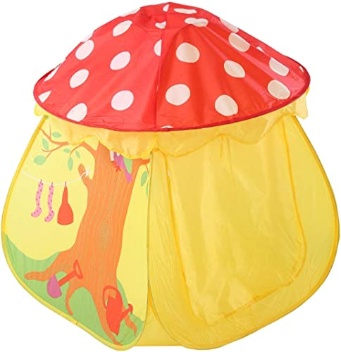Olprkgdg Creative Champignon Design Enfants Tentes Indoor Enfants Play Tente en Plein Air Playhouse Camping Playground (Couleur   jaune)