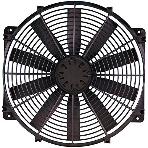 "Flex-a-lite 118 Black 16"" LoBoy Electric Fan (puller)"