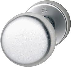 Hoppe deurknop op ronde rozet   cilindervorm   aluminium zilver geanodiseerd   Fix-knop   1 stuk