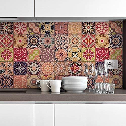 Ambiance Live COL-Ros Tiles A912_ 10x 10cm di piastrelle, Multicolore, 10x 10cm, Set, 30pezzi