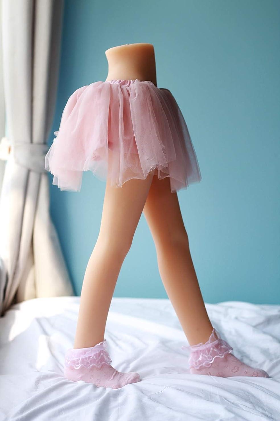 ファン代名詞マトン下半身セックス人形シリコーン脚モデル、メタルスケルトンリアルな膣とアナルマスターベーションドールグッズラブドール
