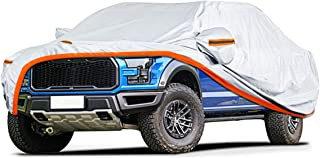 Audew Truck Cover Oxford Fabric Pickup Truck Covers for All Weather Protection-Waterproof Windproof Snowproof UV Resistant with Reflective Strips Fits Up to 246''