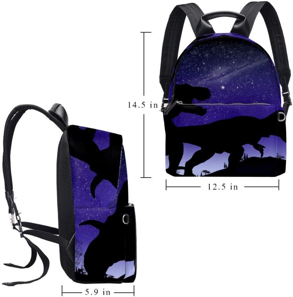Tizorax Sac à dos en cuir avec motif chat numérique et formule pour homme, femme, fille, garçon, sac à dos Motif 4 14.5x12.5x5.9in Motif 8