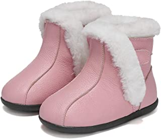 SandQ baby Pink Fur Lined Leather UGG Boot