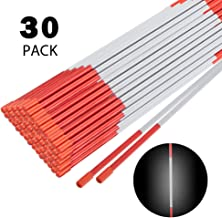 Toopify 48 Inch Driveway Markers, 30 Pack Reflective Snow Plowing Stakes, Fiberglass, 5/16 Inch Diameter, Orange