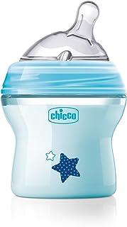 Chicco Natural Feeling Bottle, 150ml, Blue (0m+)