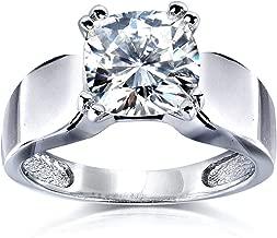 Kobelli Cushion-cut Moissanite Solitaire Engagement Ring 2 CTW 14k White Gold