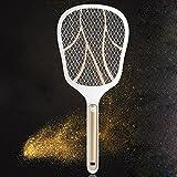 Bug Fly Mosquito eléctrico Zapper 1600mA USB Batería electrónica insectos matamoscas con linterna LED Mata insectos y bichos interior y al aire libre creatov