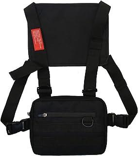 Clenp Bolsa de pecho con bandolera, bolsa de hombro ajustable para el pecho, bolsa para chaleco, mochila para hombres y mu...