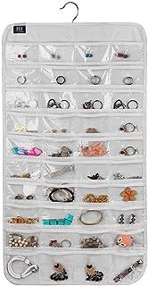 BB Brotrade Hanging Jewelry Organizer,Accessories Organizer,80 Pocket Organizer for Holding Jewelries (White)