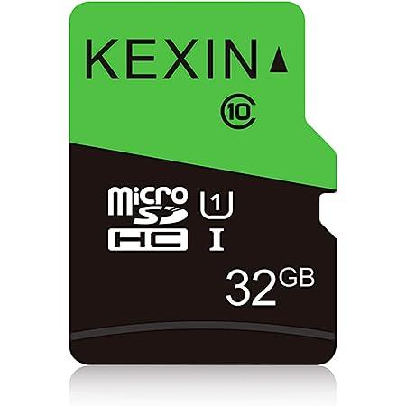 KEXIN 32GB Tarjeta de Memoria Micro SDHC, Class 10, 75MB/s de Alta Velocidad TF Tarjeta, C10, U1, Micro SD Tarjeta para Movil, Tableta, Cámara y Drones