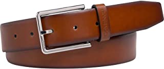 حزام مبطن من كالفين كلاين للرجال 3.5 سم، بني ، 115 سم
