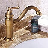 Grifo de latón Grifo de lavabo Grifo de baño Montado en la pared Grifo de agua fría y caliente de un solo orificio