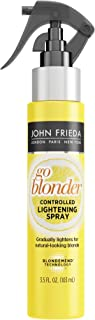John Frieda Sheer Blonde Go Blonder Lightening Spray, 3.5 Ounce Controlled Hair Lightener with Citrus and Chamomile Blond Mend Technology (Packaging May Vary)