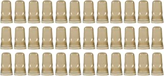 (Pack of 36) Liquor Pourer Covers, Liquor Bottle Pour Dispenser Spout Dust Covers, Universal Liquor Bottle Cover Caps by Tezzorio