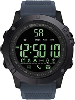 Lixada Outdoor Digital Smart Sport Watch for Men with Pedometer Wrist Watch for iOS and Android 50M Waterproof