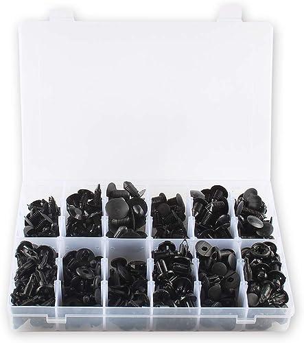 lowest Larcele Black Nylon Pin Rivet 240 Pieces, Push Retainer wholesale Kit with Storage Case high quality LMD-01 sale