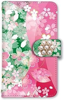 [スマとく] Galaxy A21 SC-42A 手帳型 ケース カード ミラー スマホケース 携帯ケース 携帯カバー スマホカバー サムスン ギャラクシー ギャラクシーA21 w058_j 和柄 桜 花柄 さくら スマホ手帳型