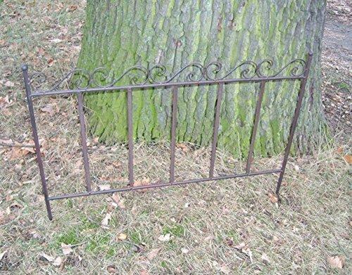 Steckzaun, 4 Stück, Rankgitter, Rankhilfe Beetbegrenzer Eisen je 70 cm