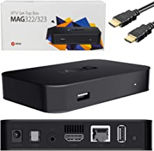 Infomir MAG 322 / MAG 323 IPTV/OTT net receiver Linux 3.3 based set-top box device with ports for USB, HDMI and Ethernet