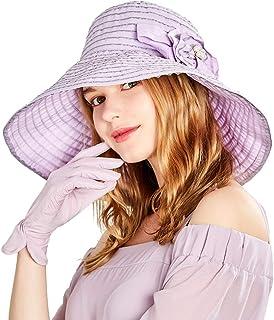 Sombreros para El Sol Visera Fresco Protección De UV De Playa Verano Pequeño De Sol Fresco De Verano (Color : Lavender, Size : 57cm)