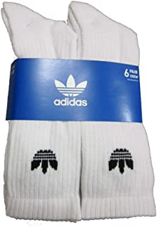 Originals 6 Pack Trefoil Crew Socks (White)